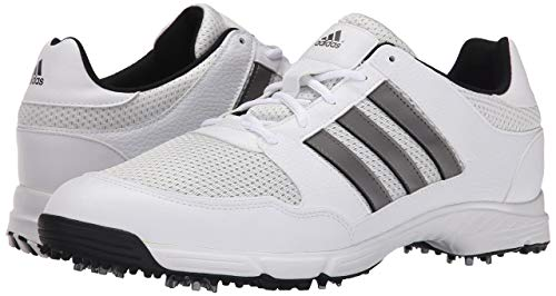 adidas men's tech response 4.0 golf shoes (gray/onyx/black)