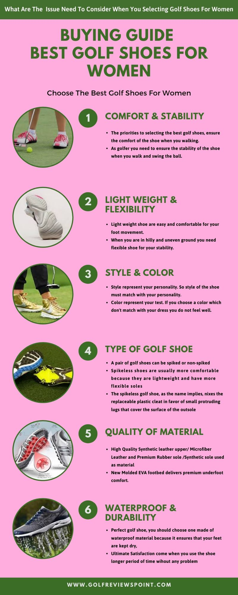A Complete Buying Guide Best Golf Shoes For Women