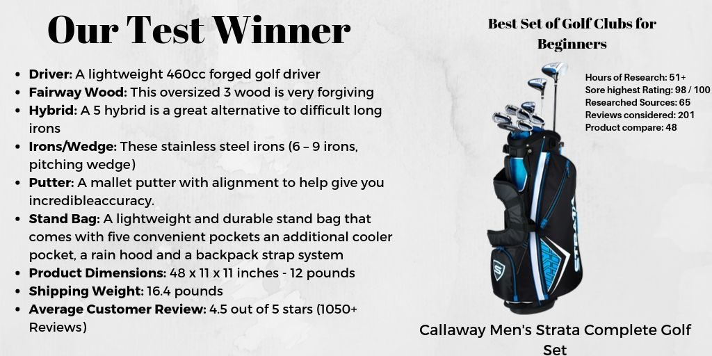 Our Test Winner - Best Set of Golf Club Set for Beginners