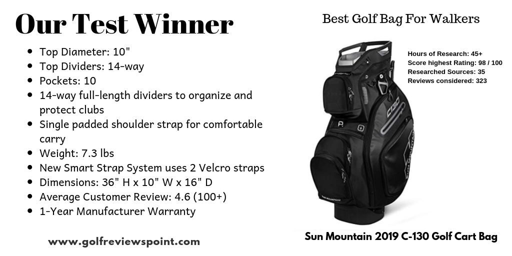 Our Test Winner - Best Golf Bag For Walkers