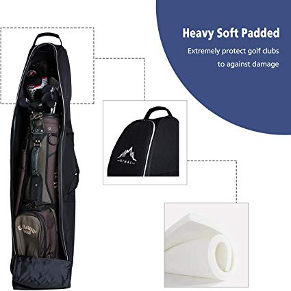Himal Soft-Sided Golf Bag Cover for club protection