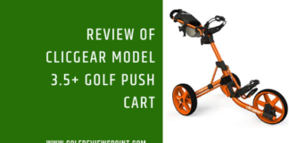 Video Reviews of Clicgear Model 3.5+ Golf Push Cart