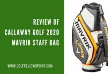 Review of Callaway Golf 2020 Mavrik Staff Bag